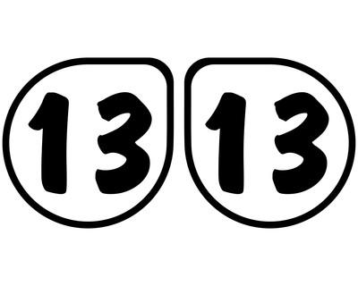 2 X Startnummern Tropfen Outline Aufkleber Für Motorrad Auto