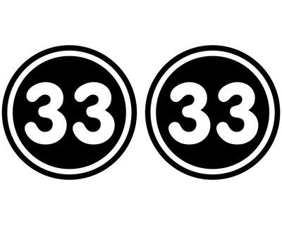 2 X Startnummern Rund Aufkleber Für Motorrad Auto Oder
