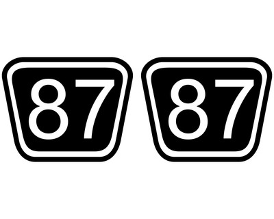 2 X Startnummern Trapez Aufkleber Für Motorrad Auto Oder