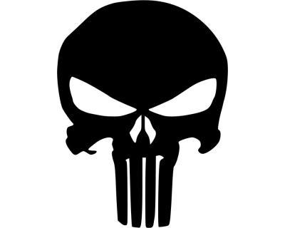 Punisher Aufkleber Totenkopf Plot4u