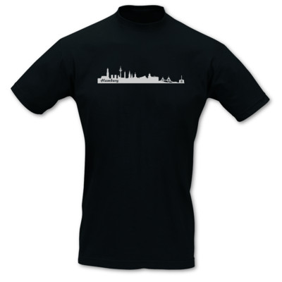 T-Shirt Hamburg Skyline