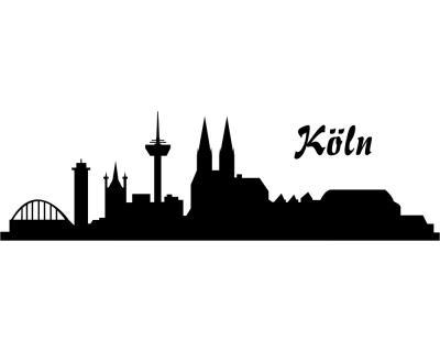 Autoaufkleber Köln Aufkleber Skyline Plot4u