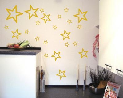 sterne aufkleber set outline runde ecken plot4u. Black Bedroom Furniture Sets. Home Design Ideas