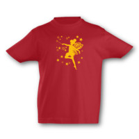 Kinder T-Shirt Fee Kinder T-Shirt Modellnummer 000580-904-410  rot/goldgelb