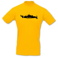 T-Shirt New York Skyline T-Shirt Modellnummer 000587-020-402  goldgelb/schwarz