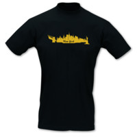 T-Shirt New York Skyline T-Shirt Modellnummer 000587-070-420  schwarz/gold-metallic