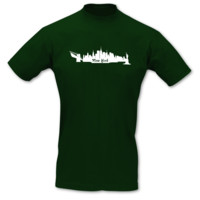 T-Shirt New York Skyline T-Shirt Modellnummer 000587-902-401  gr�n/wei�