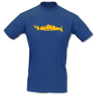 T-Shirt New York Skyline T-Shirt Modellnummer 000587-903-410  royal blau/goldgelb