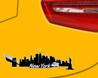New York Skyline Autoaufkleber