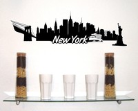 New York Skyline Wandtattoo