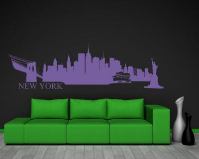 wandtattoo new york plot4u. Black Bedroom Furniture Sets. Home Design Ideas