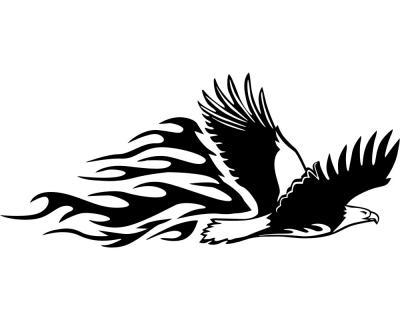 Tribalaufkleber Fliegender Adler Aufkleber Motiv 650 Plot4u