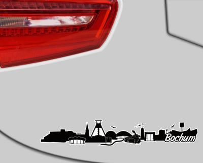 Bochum Skyline Aufkleber Sticker Autoaufkleber City Gedruckt