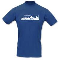T-Shirt Hattingen Skyline T-Shirt Modellnummer 000724-903-401  royal blau/weiß