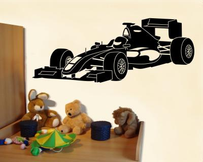 wandtattoo rennwagen rennauto kinderzimmer xxxl 25 farben 9 gr en ebay. Black Bedroom Furniture Sets. Home Design Ideas