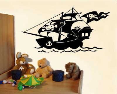 wandtattoo piratenschiff wandaufkleber plot4u. Black Bedroom Furniture Sets. Home Design Ideas