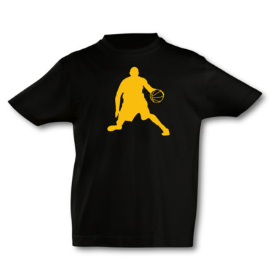 Kinder T-Shirt Basketball Spieler