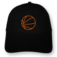 Basketball Kinder Kappe Kappe Modellnummer 000768-070-442  schwarz/neon orange