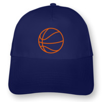 Basketball Kinder Kappe Kappe Modellnummer 000768-903-442  royal blau/neon orange