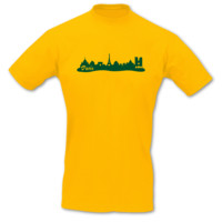 T-Shirt Paris Skyline T-Shirt Modellnummer 000782-020-404  goldgelb/grün