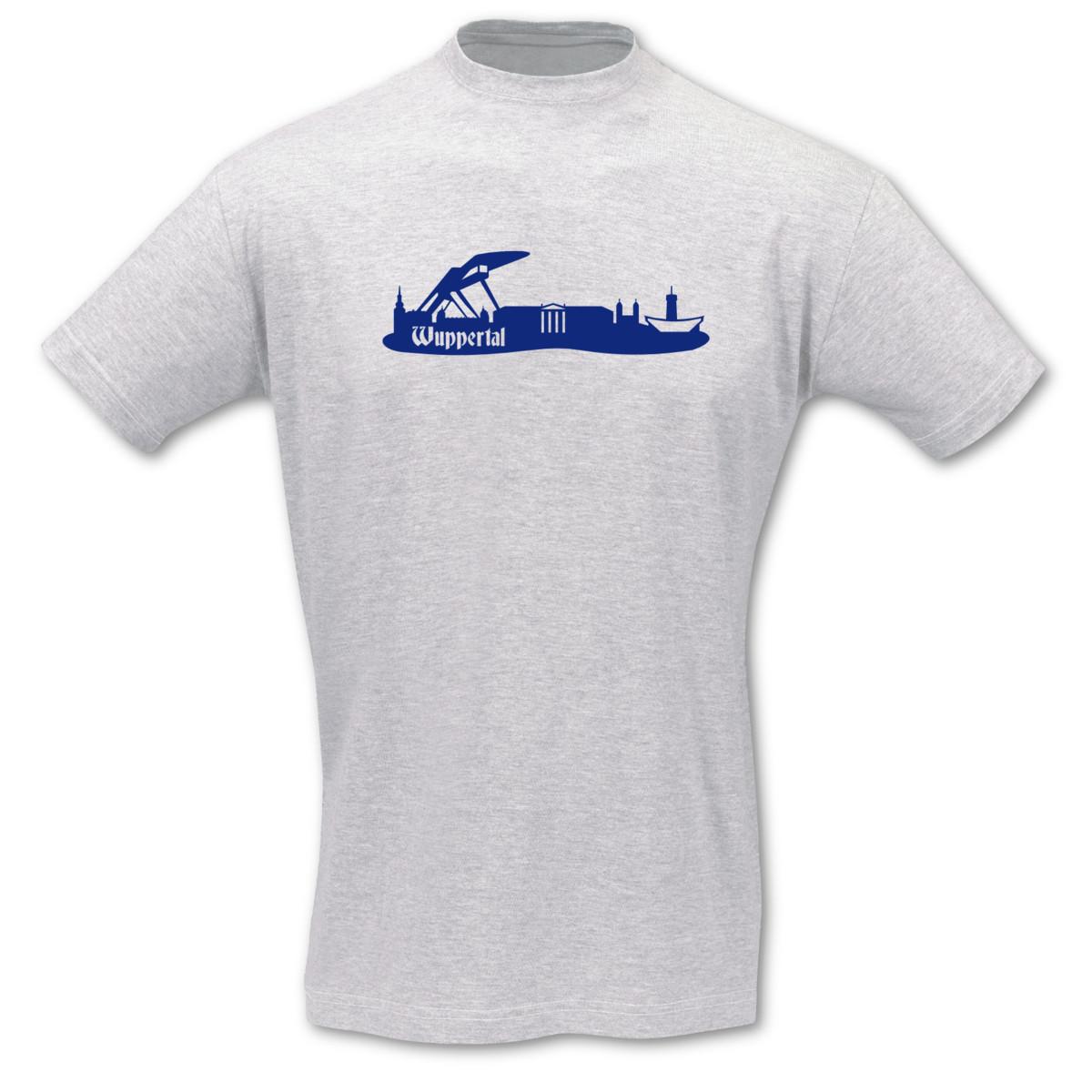 T-Shirt-Wuppertal-Skyline-8-Farben-S-5XL
