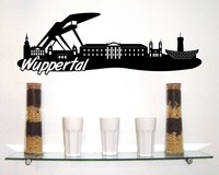 Wuppertal Skyline Wandtattoo