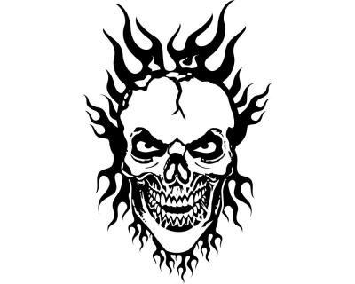 "Flammentotenkopf ""Burning Hero"" Wandtattoo Wandtattoo"