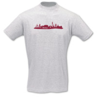 T-Shirt Bottrop Skyline T-Shirt Modellnummer 000834-901-409  ash/bordeaux