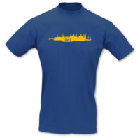 T-Shirt Lübeck Skyline T-Shirt Modellnummer 000899-903-410  royal blau/goldgelb