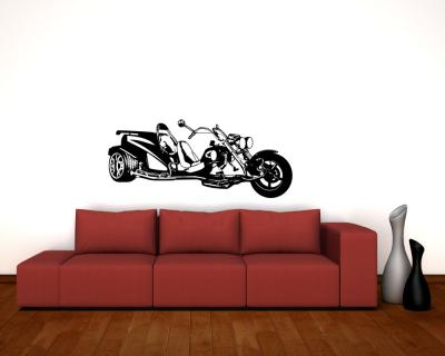 wandtattoo trike wandaufkleber motorrad aufkleber xxxl 25 farben 10 gr en ebay. Black Bedroom Furniture Sets. Home Design Ideas