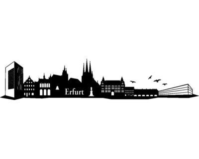 Wandtattoo erfurt skyline wandaufkleber plot4u - Wandtattoo erfurt ...