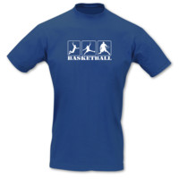 T-Shirt Basketballspieler T-Shirt Modellnummer 000917-903-401  royal blau/weiß