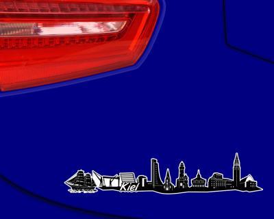 kiel skyline aufkleber sticker autoaufkleber city gedruckt 4 gr en ebay. Black Bedroom Furniture Sets. Home Design Ideas