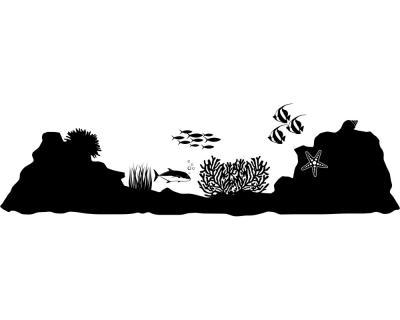 Wandtattoo unterwasserwelt paradiso wandaufkleber plot4u - Wandtattoo unterwasserwelt ...