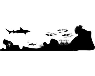 Wandtattoo Unterwasserwelt U201dShark Attacku201d Wandtattoo