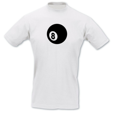 T-Shirt Billardkugel schwarze 8