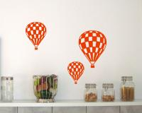 Wandtattoo Ballon 'Race' 3er Set