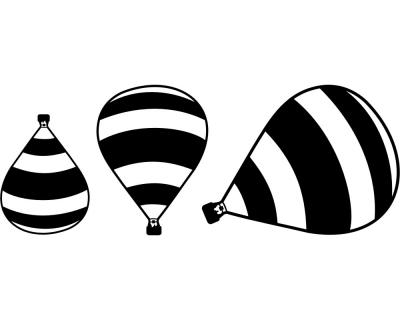 Wandtattoo ballon madame thible 3er set plot4u - Wandtattoo ballon ...