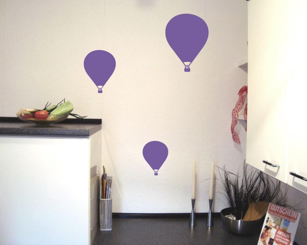 Wandtattoo ballon 39 rozier 39 3er set 25 farben 6 gr en wandaufkleber wandsticker ebay - Wandtattoo ballon ...