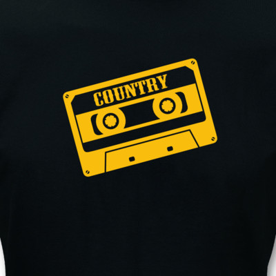 "T-Shirt Cassette ""Country"" T-Shirt"