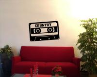 'Country' Wandtattoo Cassette