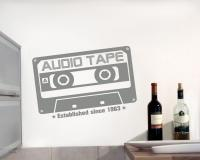 'Audio Tape since 1963' Wandtattoo