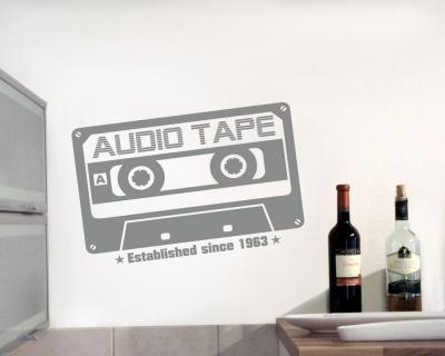 """Audio Tape since 1963"" Wandtattoo Wandtattoo"