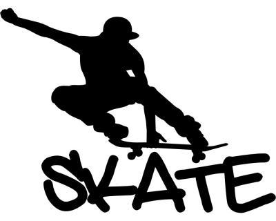 aufkleber skate skateboard autoaufkleber plot4u. Black Bedroom Furniture Sets. Home Design Ideas