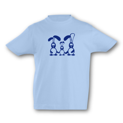 Kinder T-Shirt Hasenfamilie Kinder T-Shirt