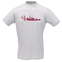 T-Shirt San Francisco Skyline T-Shirt Modellnummer 001015-901-409  ash/bordeaux