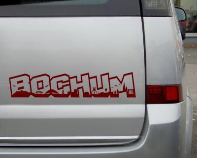 Aufkleber Bochum Schriftzug Skyline Autoaufkleber Plot4u