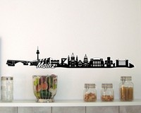 Mainz Skyline Wandtattoo