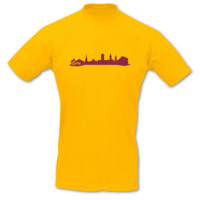 T-Shirt Gera Skyline T-Shirt Modellnummer 001035-020-409  goldgelb/bordeaux