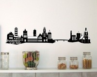 Brandenburg an der Havel Skyline Wandtattoo
